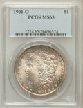 Morgan Dollars: , 1901-O $1 MS65 PCGS. PCGS Population (2656/469). NGC Census:(4591/452). Mintage: 13,320,000. Numismedia Wsl. Price for pro...
