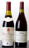 Red Burgundy, Charmes Chambertin . 1994 Dujac lscl Bottle (1). ClosVougeot . 1993 Hudelot-Noellat 3.8cm Bottle (1)... (Total: 2Btls. )