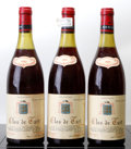 Red Burgundy, Clos de Tart 1981 . Mommessin . 2(3cm), 1(3.1cm) 2nl, 3wisl,1ssos. Bottle (3). ... (Total: 3 Btls. )