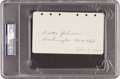 Autographs:Others, 1929 Walter Johnson Signed & Notated Album Page....