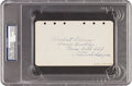 Autographs:Others, 1929 Wilbert Robinson Signed & Notated Album Page....