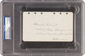 Golf Collectibles:Autographs, 1929 Francis Ouimet Signed & Notated Album Page....