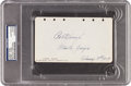 Golf Collectibles:Autographs, 1929 Bobby Jones Signed & Notated Album Page....