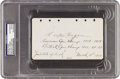 Golf Collectibles:Autographs, 1929 Walter Hagen Signed & Notated Album Page....