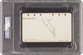Football Collectibles:Others, 1929 Knute Rockne Signed Album Page....