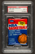 Basketball Cards:Singles (1980-Now), 1986 Fleer Basketball Unopened Wax Pack PSA Mint 9. ...