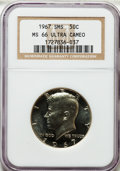 SMS Kennedy Half Dollars: , 1967 50C SMS MS66 Ultra Cameo NGC. NGC Census: (70/110). PCGSPopulation (68/72). Numismedia Wsl. Price for problem free N...