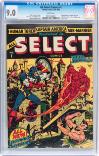All Select Comics #1 (Timely, 1943) CGC VF/NM 9.0 White pages