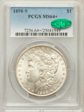 Morgan Dollars: , 1898-S $1 MS64+ PCGS. CAC. PCGS Population (1163/467). NGC Census:(605/113). Mintage: 4,102,000. Numismedia Wsl. Price for...