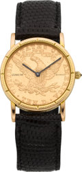 Timepieces:Wristwatch, Corum 1904 Ten Dollar Gold Coin Watch. ...