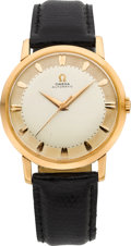 Timepieces:Wristwatch, Omega 18k Rose Gold Vintage Automatic, circa 1950's. ...