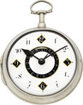 Timepieces:Pocket (pre 1900) , Thomas Broderick, Spalding Massive Verge Fusee With Calendar, circa1820. ...