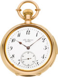 Timepieces:Wristwatch, Jules Jurgensen Very Fine Gold Minute Repeater With Patent Bow Setting, circa 1880's. ...