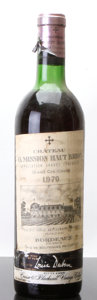Red Bordeaux, Chateau La Mission Haut Brion 1970 . Pessac-Leognan. vhs,bsl, lcc, nc. Bottle (1). ... (Total: 1 Btl. )