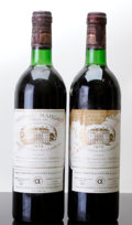 Red Bordeaux, Chateau Margaux 1979 . Margaux. 1bn, 1lbsl, 1wisl, 2lcc,1ssos. Bottle (2). ... (Total: 2 Btls. )