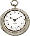 Timepieces:Pocket (pre 1900) , George Clarke London Turkish Market Verge Fusee, circa 1795. ...