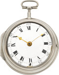 Timepieces:Pocket (pre 1900) , Francis Goode London Early 18th Century Verge Fusee, Later Case....