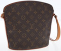 Luxury Accessories:Bags, Louis Vuitton Classic Monogram Canvas Drouot Shoulder Bag. ...
