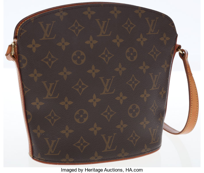 dd7041a2b867 Louis Vuitton Classic Monogram Canvas Drouot Shoulder Bag. ...