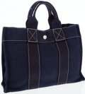 Luxury Accessories:Bags, Hermes Navy Canvas Fourre Tout PM Tote Bag. ...