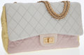 Luxury Accessories:Bags, Chanel Tri-Color Microfiber Jumbo Flap Bag with MademoiselleClosure. ...