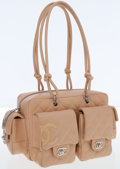 Luxury Accessories:Bags, Chanel Beige Lambskin Leather Small Multipocket Reporter Bag. ...