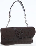 Luxury Accessories:Bags, Chanel Brown Lambskin Camellia No. 5 Pochette Shoulder Bag. ...