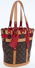 Luxury Accessories:Bags, Louis Vuitton Classic Monogram Canvas and Rubis Leather Neo Bucket Bag. ...