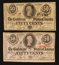 Confederate Notes:1863 Issues, Confederate Fractional Currency - T63 and T72.. ... (Total: 2notes)