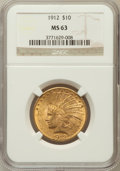Indian Eagles, 1912 $10 MS63 NGC....