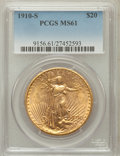 Saint-Gaudens Double Eagles: , 1910-S $20 MS61 PCGS. PCGS Population (276/3564). NGC Census:(569/3144). Mintage: 2,128,250. Numismedia Wsl. Price for pro...