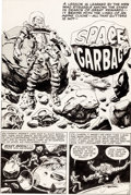 """Original Comic Art:Complete Story, Jack Kirby and Al Williamson Race for the Moon #3 Complete 5-Page Story """"Space Garbage"""" Original Art (Harvey, 1958..."""
