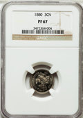 Proof Three Cent Nickels: , 1880 3CN PR67 NGC. NGC Census: (48/2). PCGS Population (37/0).Mintage: 3,955. Numismedia Wsl. Price for problem free NGC/P...