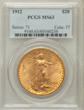 Saint-Gaudens Double Eagles: , 1912 $20 MS63 PCGS. PCGS Population (1104/454). NGC Census:(338/213). Mintage: 149,700. Numismedia Wsl. Price for problem ...
