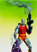 Original Comic Art:Covers, Joe Jusko Wizard the Comics Magazine Deathlok theDemolisher Painted Illustration Original Art (Wizard, 19...