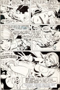 Original Comic Art:Panel Pages, Ric Estrada and Wally Wood All-Star Comics #58 Page 18 Original Art (DC, 1976)....
