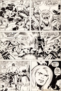 Original Comic Art:Panel Pages, Jack Kirby and D. Bruce Berry Kamandi #29 Page 4 OriginalArt (DC, 1975)....