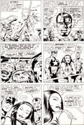 Original Comic Art:Panel Pages, Jack Kirby and D. Bruce Berry Captain America #195 Page 23Original Art (Marvel, 1976)....