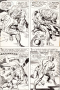 Original Comic Art:Panel Pages, Jack Kirby and Mike Royer The Forever People #11 Page 4Original Art Original Art (DC, 1972)....