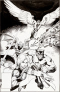 Original Comic Art:Covers, Arthur Adams and Mike Mignola The Defenders #142 CoverOriginal Art (Marvel, 1985)....