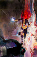 Original Comic Art:Covers, Bill Sienkiewicz The New Mutants #25 Cloak and Dagger Painted Cover Original Art (Marvel, 1985)....