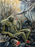 Original Comic Art:Covers, Steve Bissette and John Totleben Comics Journal #93 SwampThing Painted Cover Original Art (Fantagraphics, 1984)....
