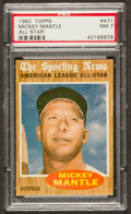 Baseball Cards:Singles (1960-1969), 1962 Topps Mickey Mantle All Star #471 PSA NM 7....