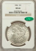 Morgan Dollars: , 1886 $1 MS66 NGC. CAC. NGC Census: (4872/880). PCGS Population(2517/260). Mintage: 19,963,886. Numismedia Wsl. Price for p...