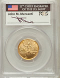 Modern Issues, 1995-W G$5 Olympic/Torch Runner Gold Five Dollar MS69 PCGS. Ex:Signature of John M. Mercanti, 12th Chief Engraver of the ...