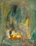 , HANS HOFMANN (American, 1880-1966). Yellow Glow, 1960. Oilon masonite. 14 x 11 inches (35.6 x 27.9 cm). Signed and date...
