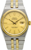 Timepieces:Wristwatch, Rolex Ref. 17000 B Two Tone Oysterquartz Datejust, circa 1982. ...