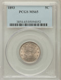 Liberty Nickels: , 1893 5C MS65 PCGS. PCGS Population (92/17). NGC Census: (88/8).Mintage: 13,370,195. Numismedia Wsl. Price for problem free...