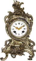 Timepieces:Clocks, French Small Hour & Half Hour Striking Cartel Clock, circa 1885. ...