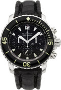 Timepieces:Wristwatch, Blancpain Steel Fifty Fathoms Flyback Chronograph Ref.5085F-1130-53B. ...